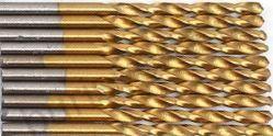 Сверло по металлу 2 мм, с титановым покрытием. HSS-TiN
