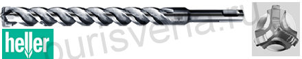 Бур по железобетону Heller Trijet, SDS-plus, 6х50х110мм